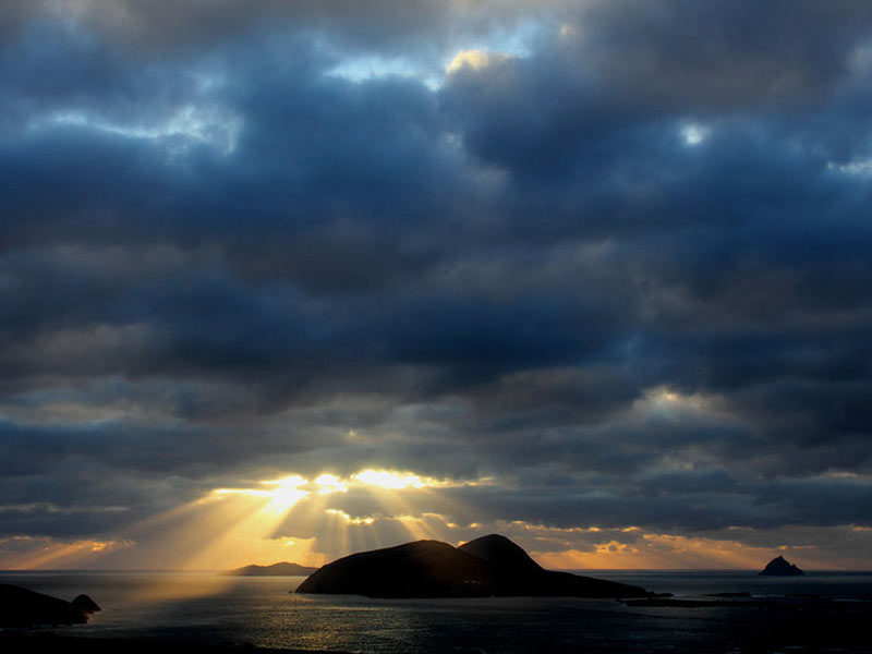 Blaskets at sunset